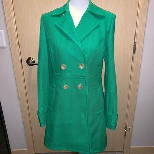 NWOT Banana Republic Green Pea Coat